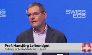 Foto Prof. Leibundgut am SwissECS