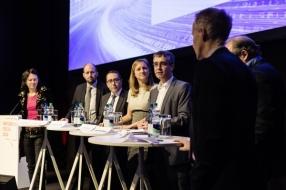 Foto der Podiumsdiskussion vom 15. Januar 2016 an der Swissbau